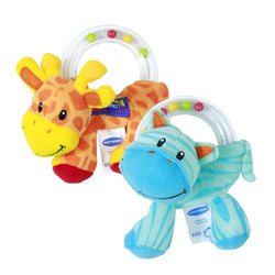 Cute Plush Rattle Baby Holding Animal Toy - SitaraOnline