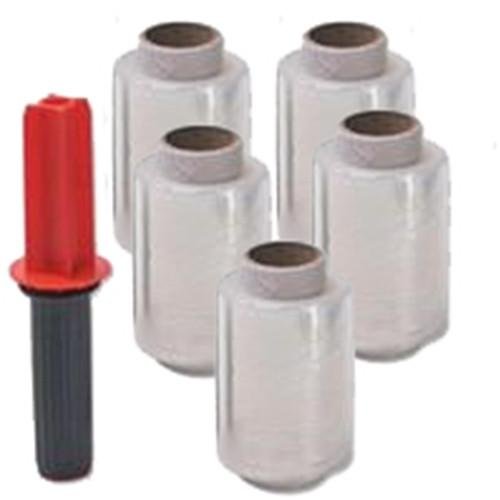 MINIROLLS Stretch Wrap Mini Rolls - 100mm x 150m - Box of 40 Rolls - Plus 1 Handle