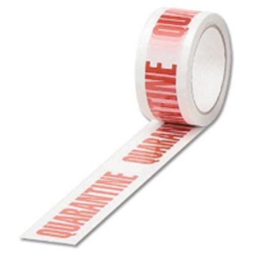 PP12 Quarantine Pre Printed Packaging Tape 48mm x 66m