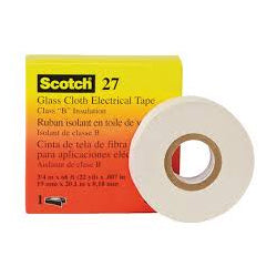 3M 27 Glass Cloth Electrical Tape 25mm x 55m