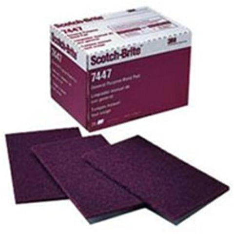 3M Scotch Brite 7447 Hand Pads -Very Fine Abrasive Pack of 20