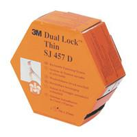 3M SJ457D Dual Lock Twin Pack - Acrylic Adhesive - Disengagement Strength 250 - Clear
