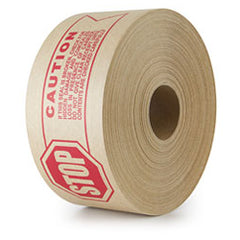 Caution Pre Printed Water Activated Reinforced Gum Paper Tape 70mm x 150m