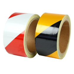 VK6601 Reflective Hazard Warning Tape 50mm x 10m