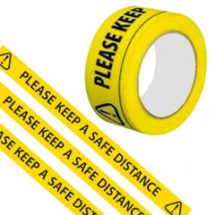 Please Keep A Safe Distance Tape 48mm x 33m - 6 Roll Pack - Special Offer Back in Stock