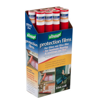 Rhino Red Tinted Kitchen Laminate Protection Tape 600mm x 25m