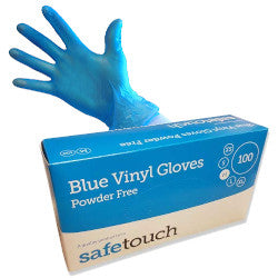Vinyl Powder Free Gloves Box of 100