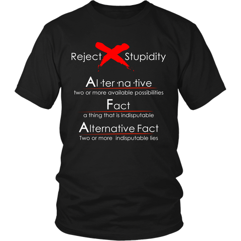 Alternative Facts - Reject Stupidity