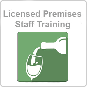 Licensed Premises Staff Training CPD Certified Online Course