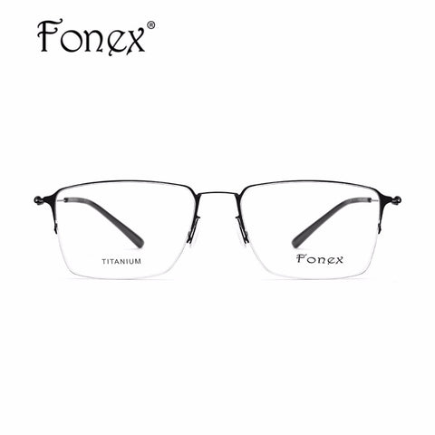 f2a1e6e3f55 FONEX 2017 Screwless Eyewear Korean Glasses Frame Men Rimless ...