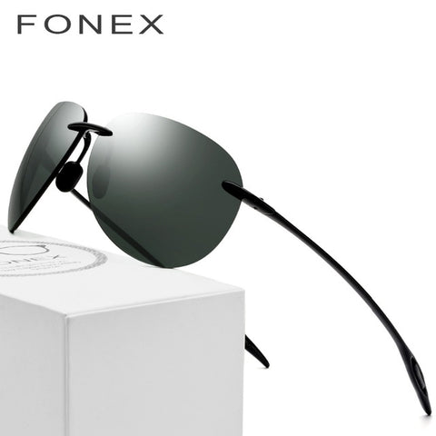 76d1158c74 FONEX Aviation TR90 Rimless Sunglasses 1606