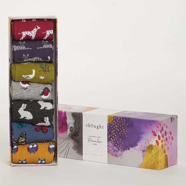 Fauna bamboo sock selection pack Thought &Keep