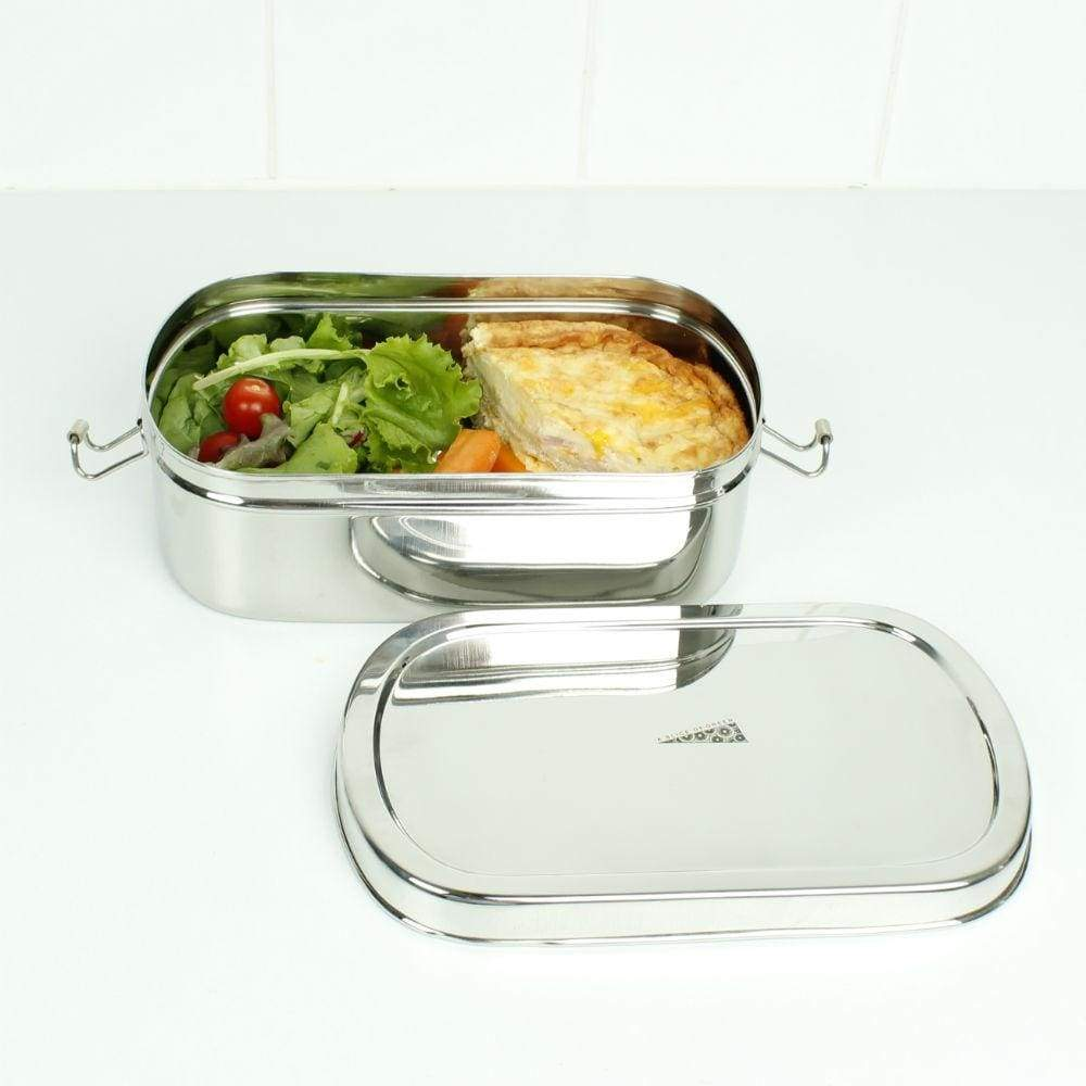 A Slice Of Green A Slice Of Green Stainless Steel Extra Large Oval Lunch Box &keep