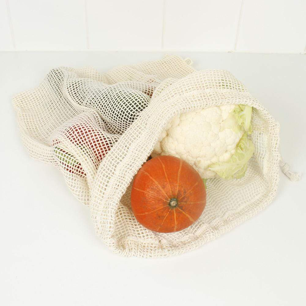 Extra Large Organic Cotton Mesh Produce Bag A Slice of Green &Keep