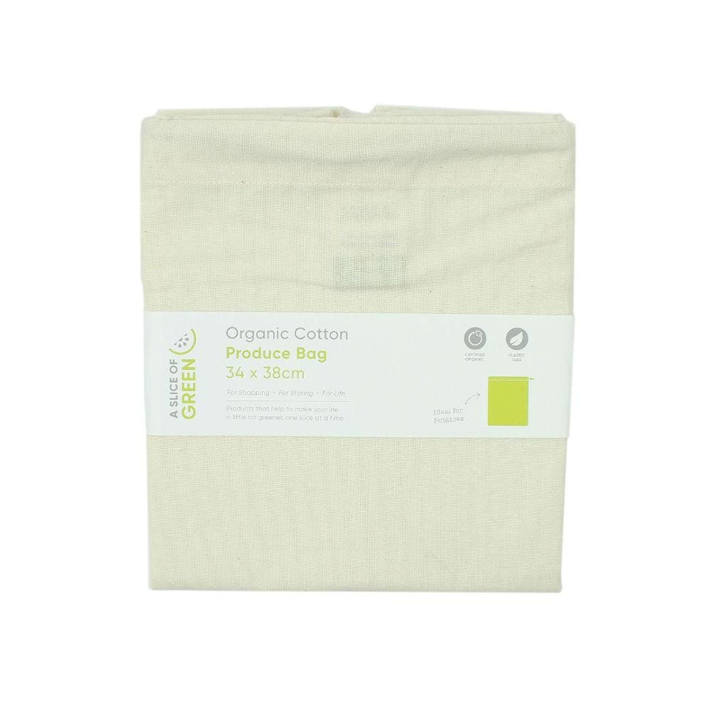 A Slice Of Green Large Organic Cotton Produce Bag &keep