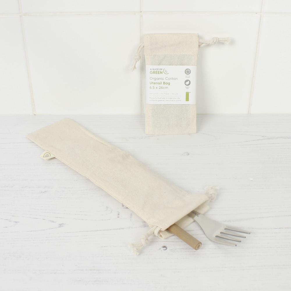 Organic Cotton Utensil Bag