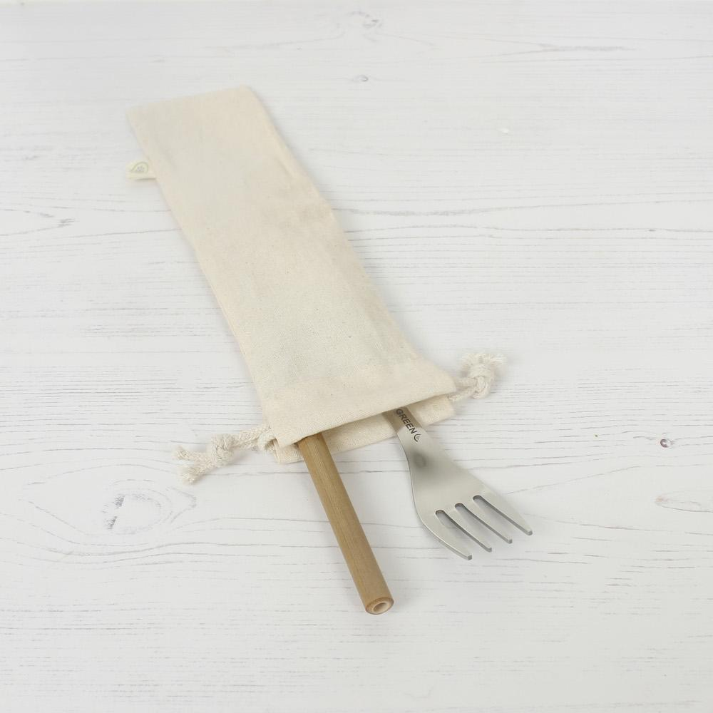 Organic Cotton Utensil Bag &Keep