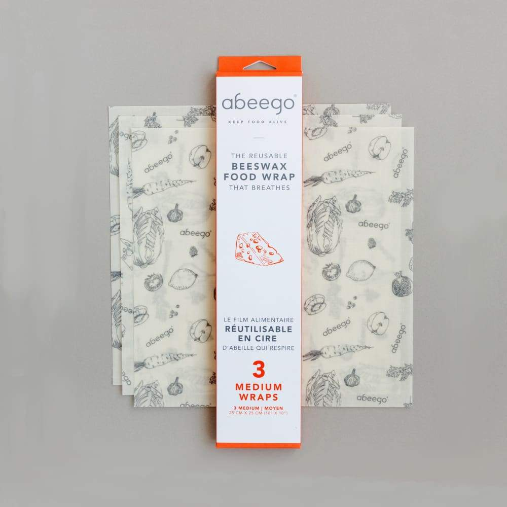 Abeego Abeego Bees Wax Food Wrap Medium (3) &keep