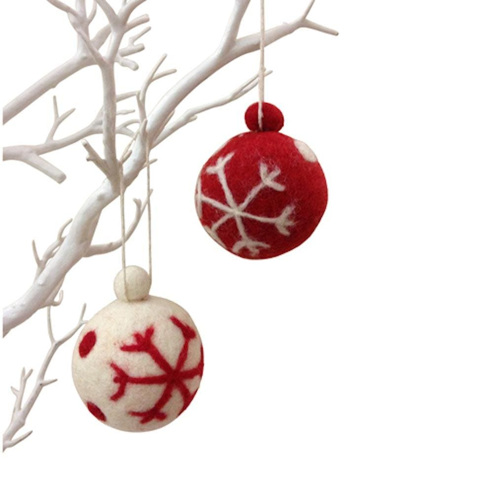 Felt Snowflake Bauble by Amica &Keep
