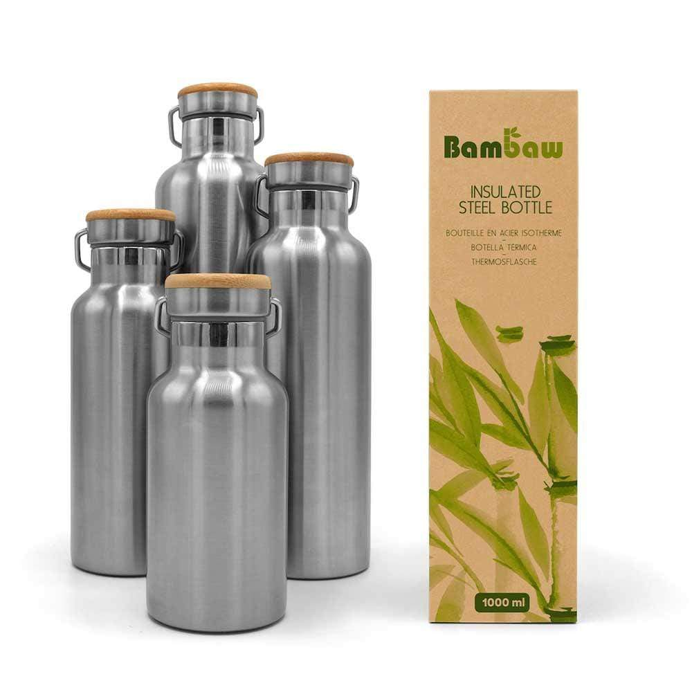 Stainless Steel Insulated Water Bottle 1000ml by Bambaw &Keep