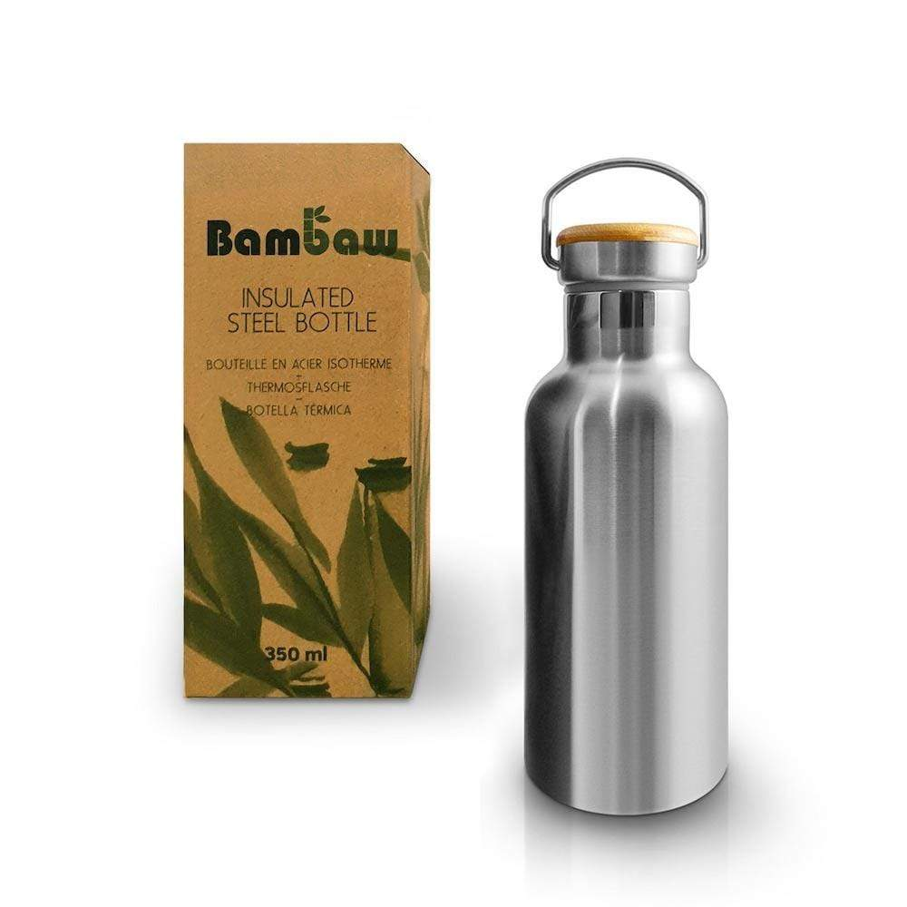 Stainless Steel Insulated Water Bottle 350ml by Bambaw &Keep