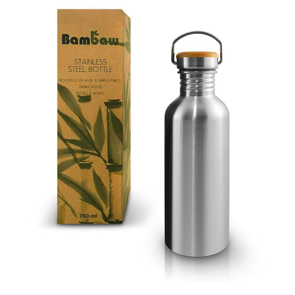 Stainless Steel Water Bottle 750ml by Bambaw &Keep