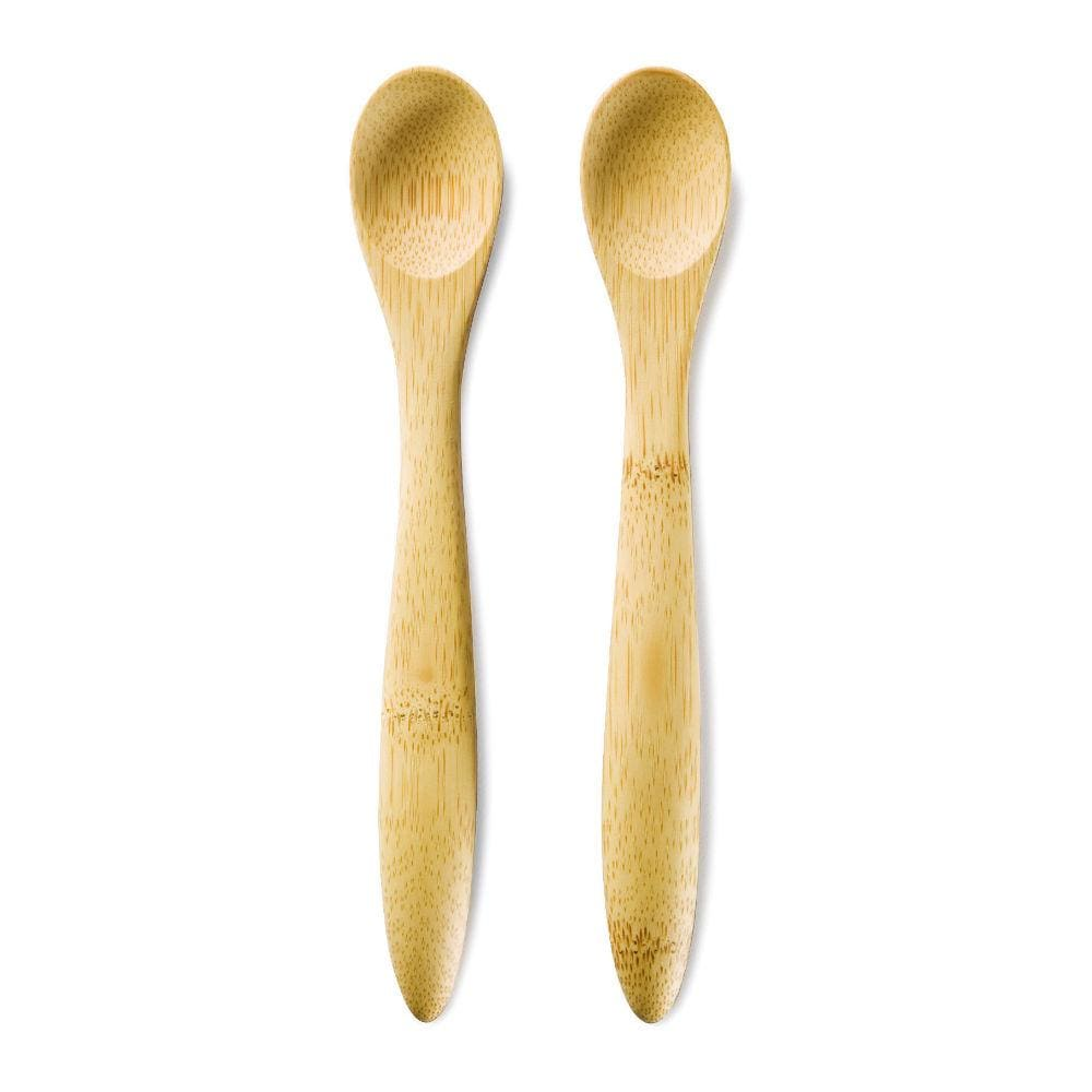 Bambu Organic Bamboo Baby Feeding Spoons - Set Of 2 &keep