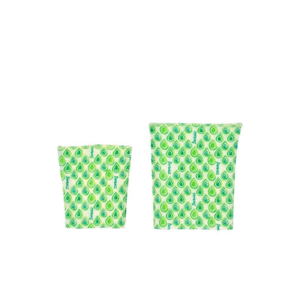 BeeBAGZ Reusable Beeswax Wrap Food Bags - Snack Pack &Keep