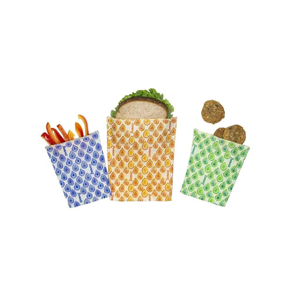 BeeBAGZ Reusable Beeswax Wrap Food Bags - Starter Pack &Keep