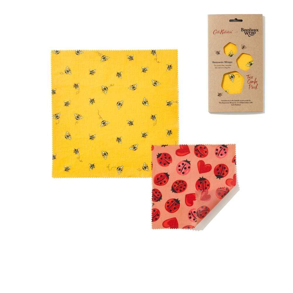 Cath Kidston Bees Wax Wraps - Creature Comforts Two Pack &Keep