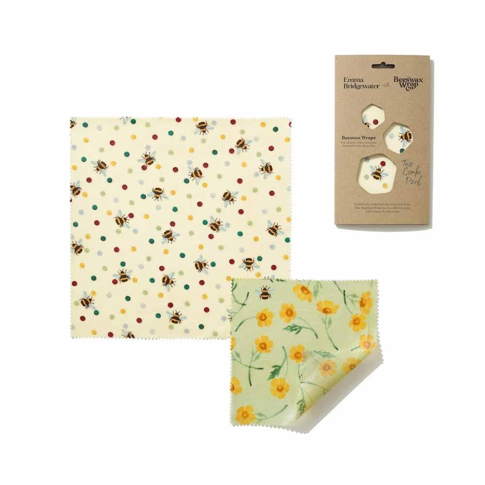 Emma Bridgewater Bees Wax Wraps - Bees & Buttercups