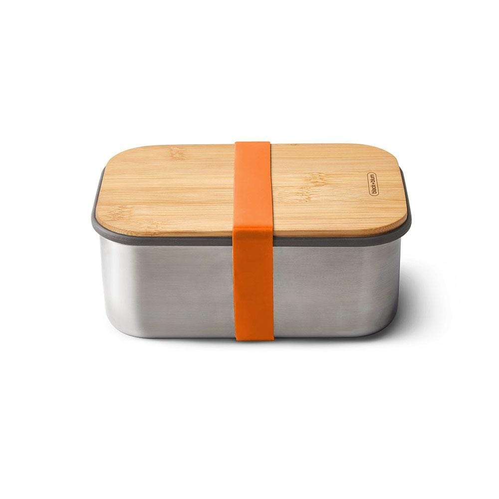 black+blum Stainless Steel/Bamboo 1.25L Sandwich Box - Orange &Keep