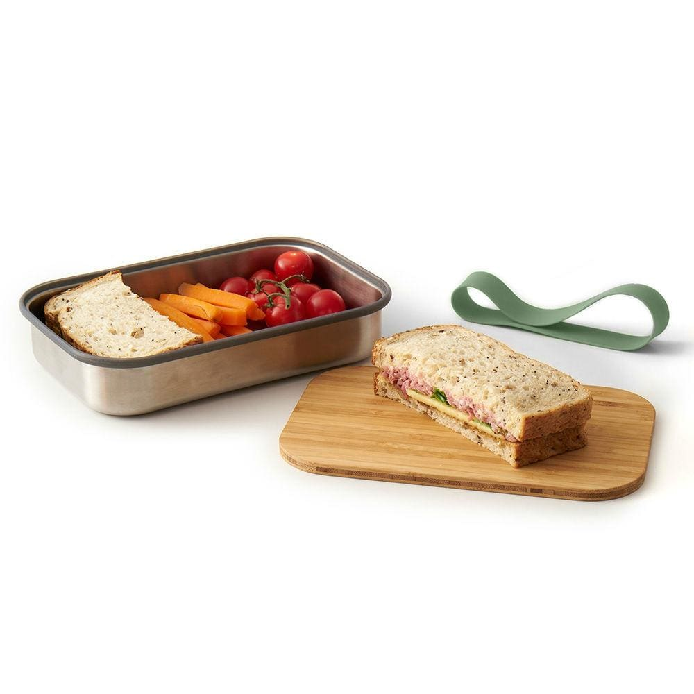 Black+Blum Black+Blum Box Appetit Stainless Steel/bamboo Sandwich Box - Olive &keep