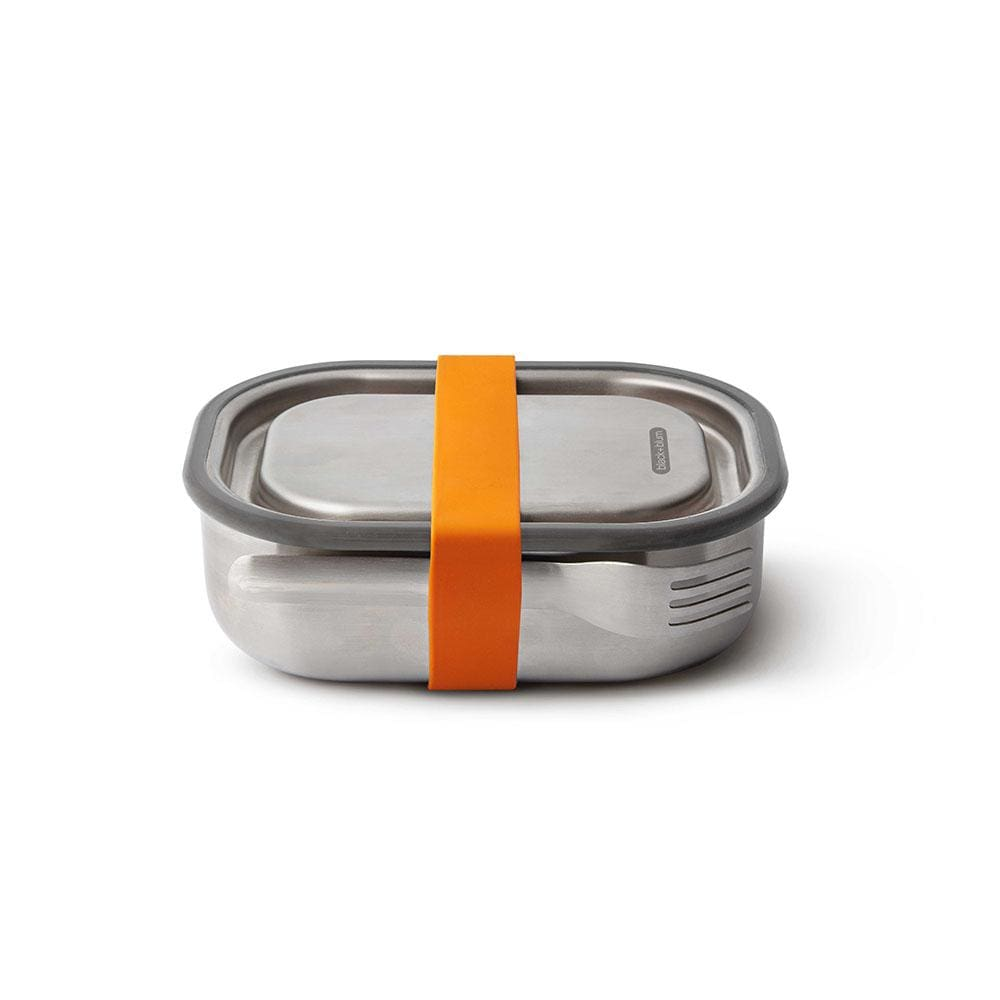 black+blum Stainless Steel Leakproof 600ml Lunch Box & Fork - Orange &Keep