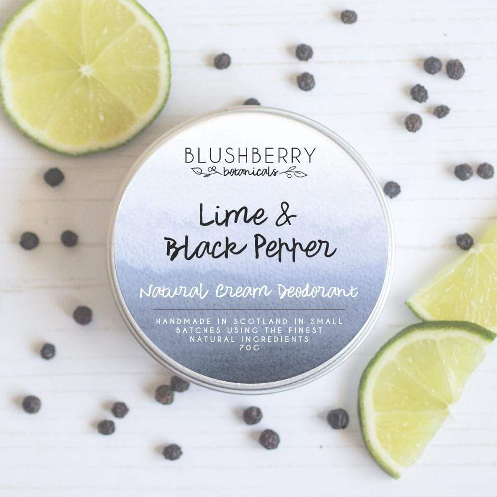 Blushberry Botanics Blushberry Natural Vegan Cream Deodorant Tin - Lime & Black Pepper &Keep