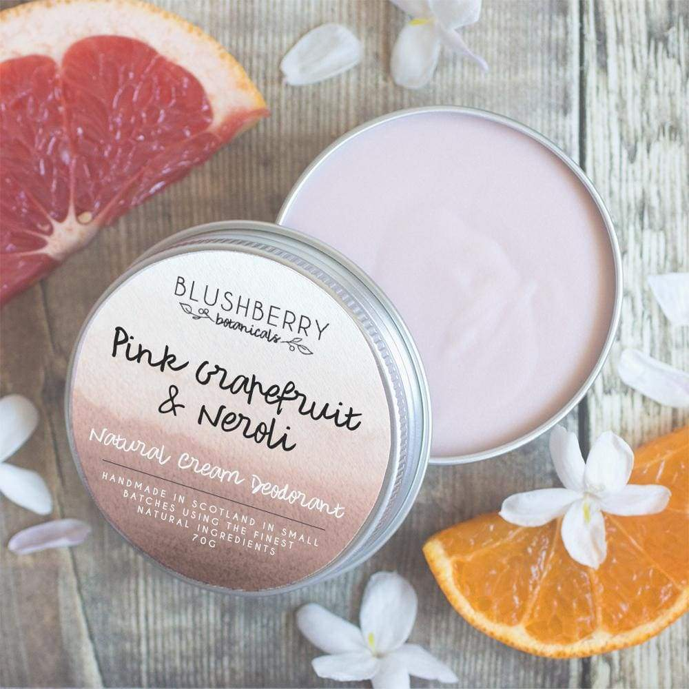 Blushberry Botanics Blushberry Natural Vegan Cream Deodorant Tin - Pink Grapefruit & Neroli &Keep