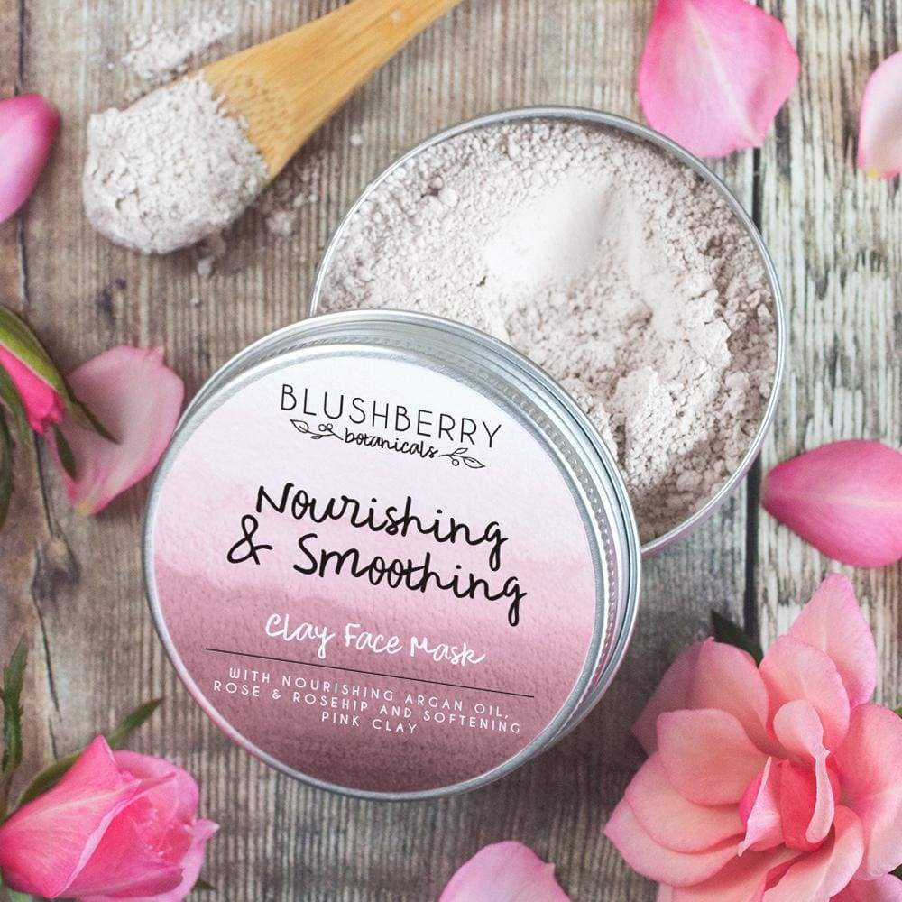 Blushberry Botanics Blushberry Natural Clay Mask Tin - Nourishing/Smoothing &Keep