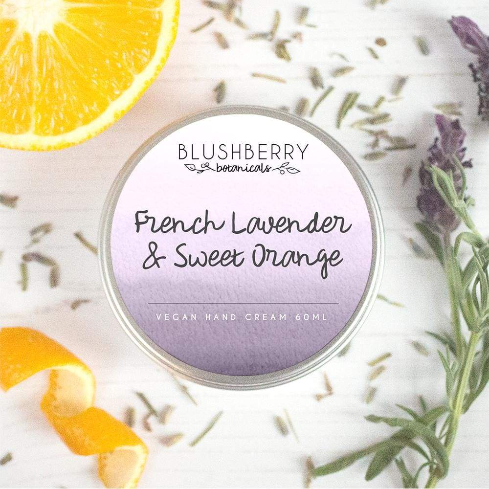 Blushberry Botanics Blushberry Luxury Organic Vegan Hand Cream - French Lavender & Sweet Orange &Keep