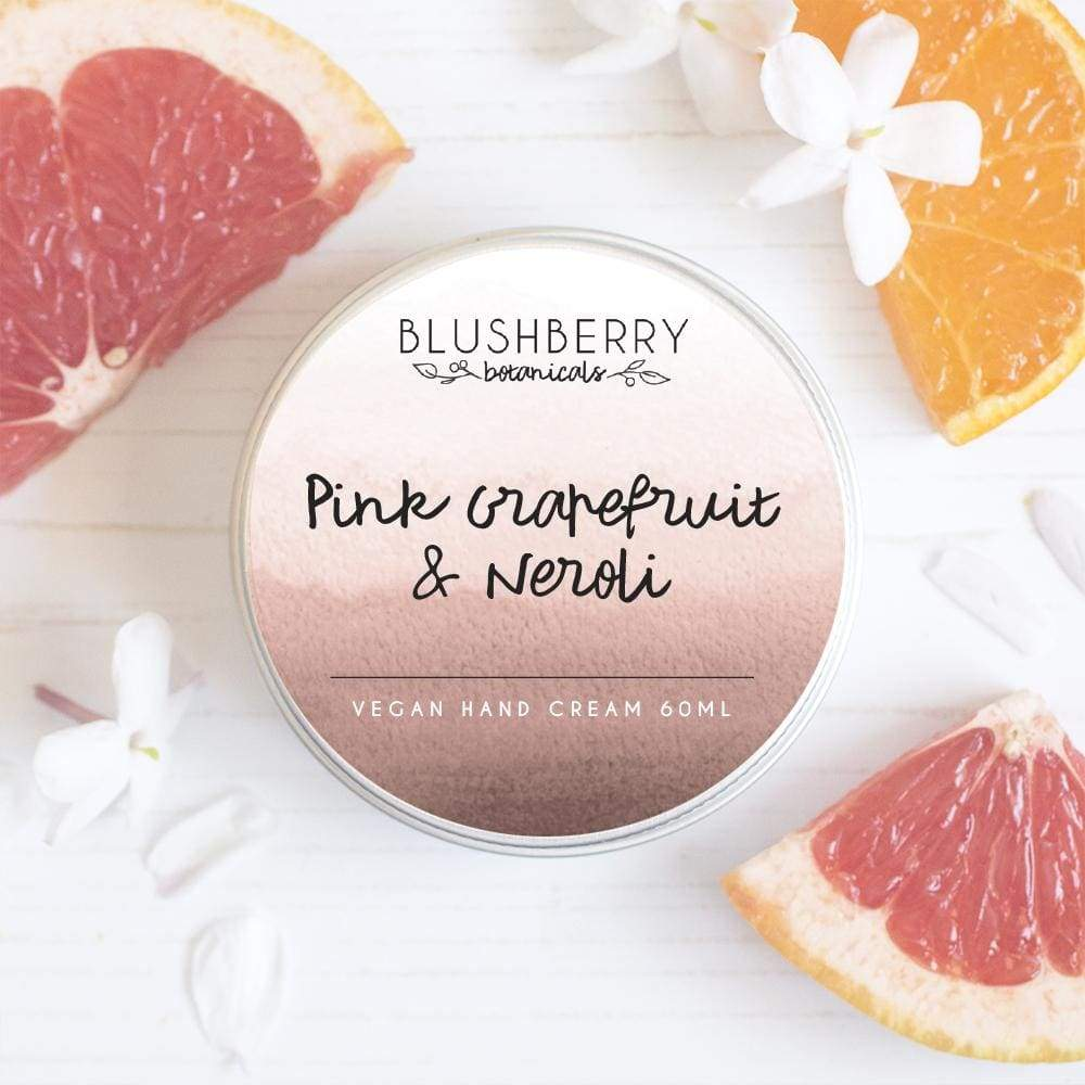 Blushberry Botanics Blushberry Luxury Organic Vegan Hand Cream - Pink Grapefruit & Neroli &Keep