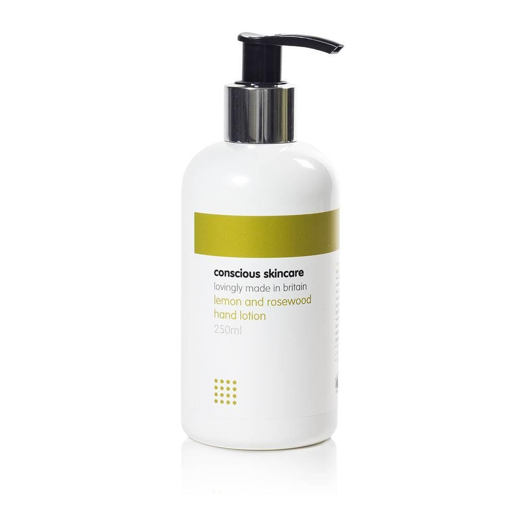 Lemon & Rosewood Organic Hand Lotion by Conscious Skincare &Keep