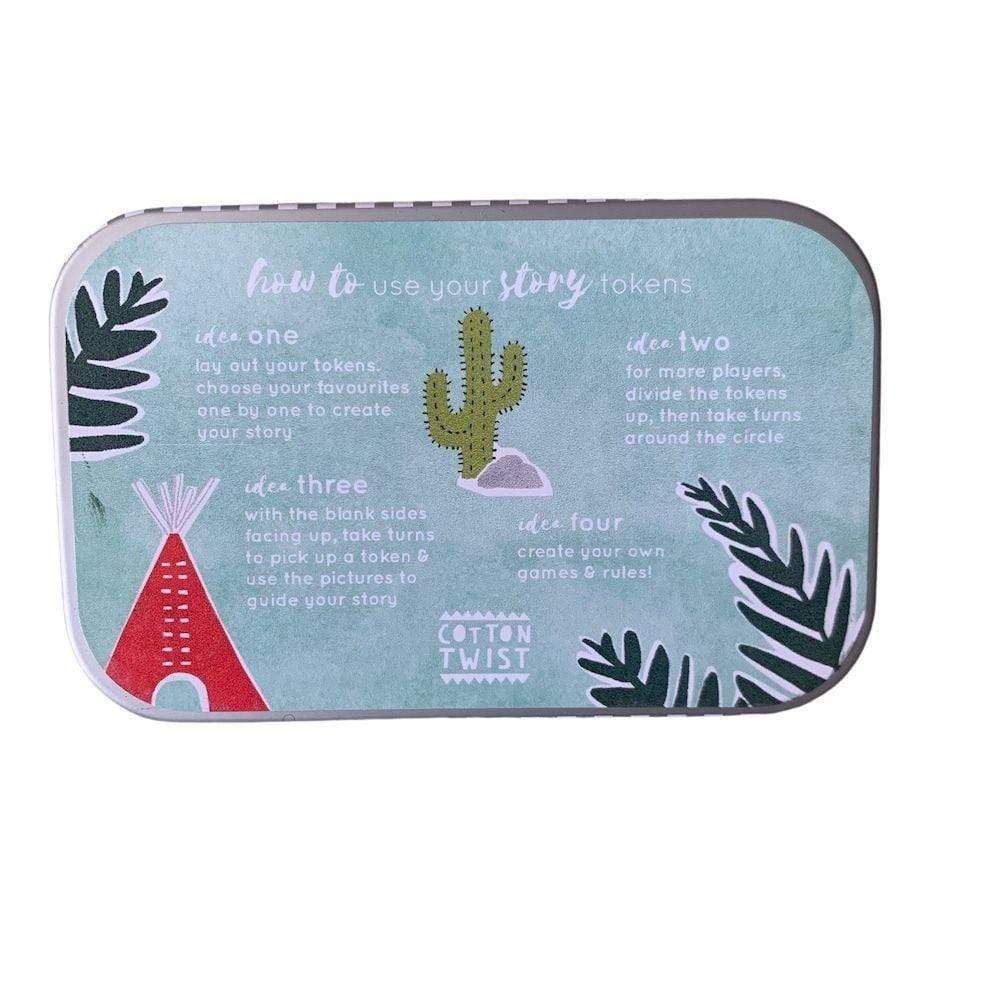 Wooden Story Tokens Tin by Cotton Twist - Outdoor Adventure &Keep