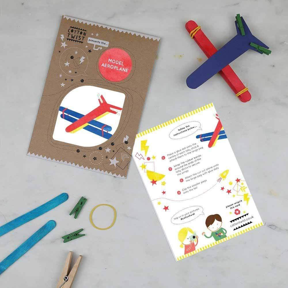 Make Your Own Model Aeroplane Kit Cotton Twist &Keep