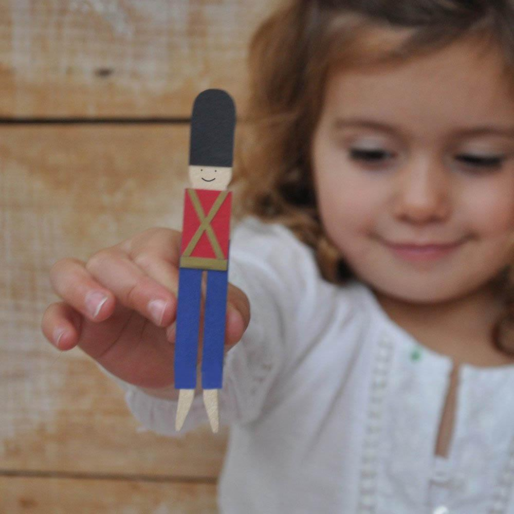 Make Your Own Nutcracker Soldier Peg Doll Kit Cotton Twist &Keep