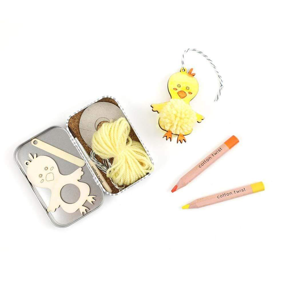 Make Your Own Pom Pom Chick Gift Tin &Keep