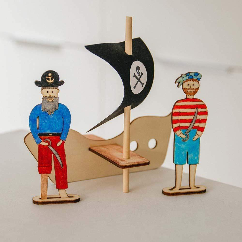 Make Your Own Pirate Scene Craft Kit Cotton Twist &Keep