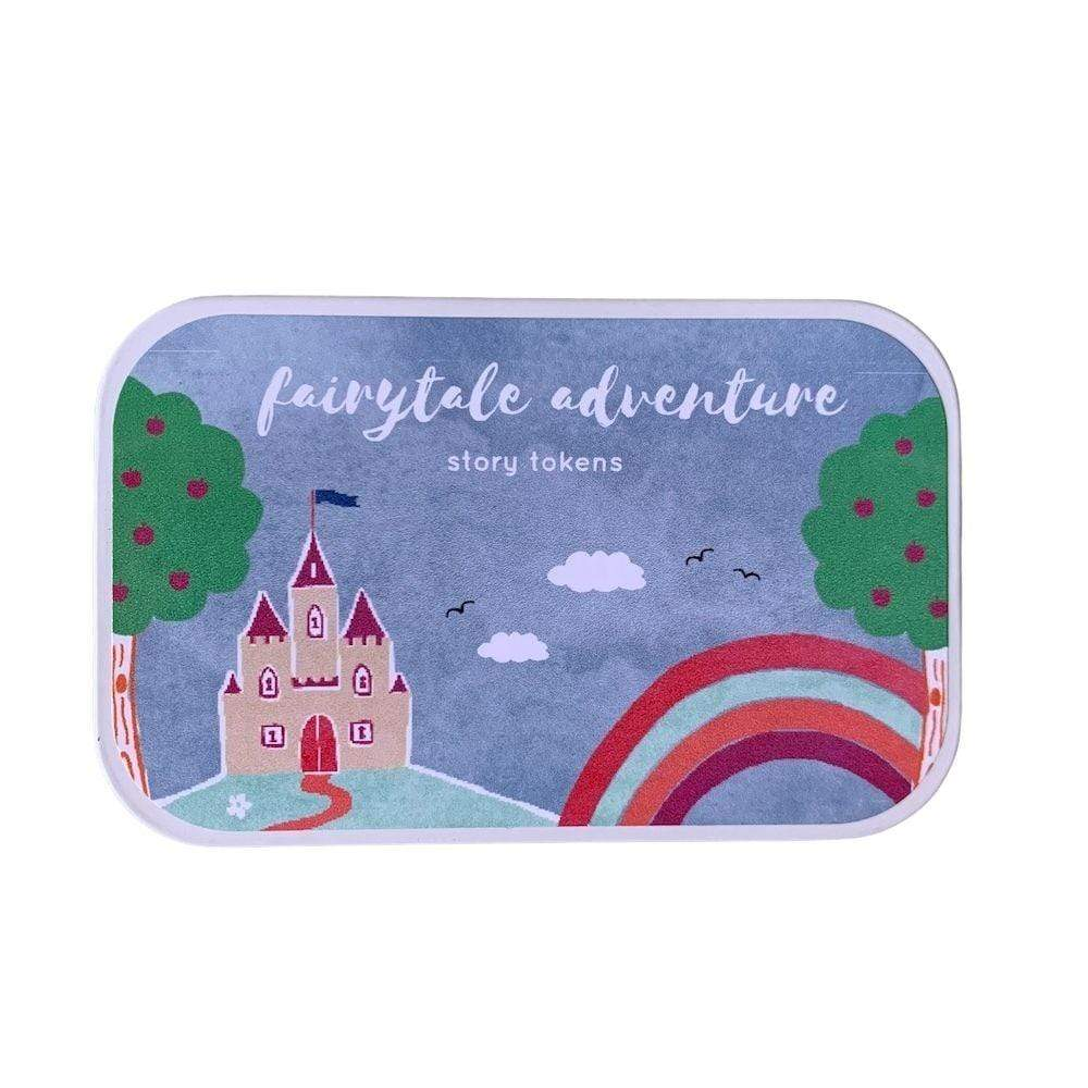Wooden Story Tokens Tin by Cotton Twist - Fairytale Adventure &Keep
