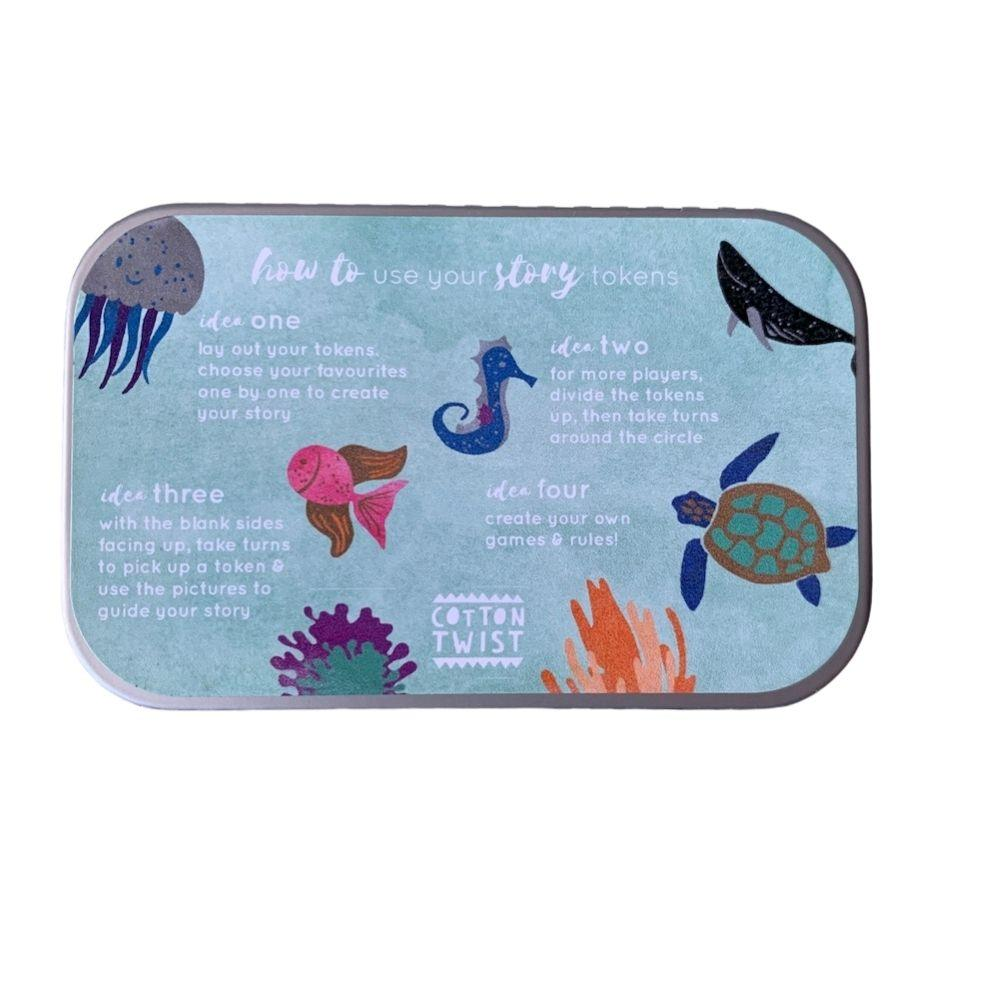 Wooden Story Tokens Tin by Cotton Twist - Underwater Adventure &Keep