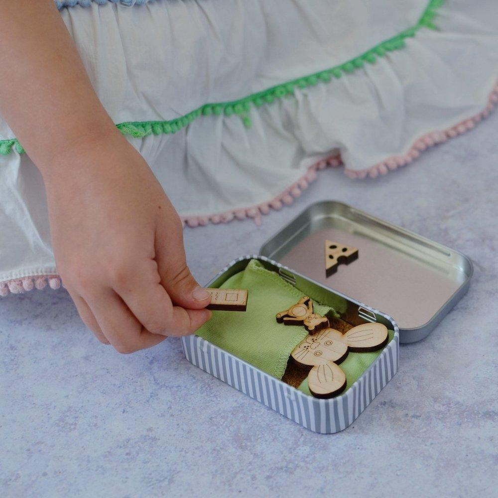 Please Take Care of Me Gift Tin - Woodland Bunny &Keep