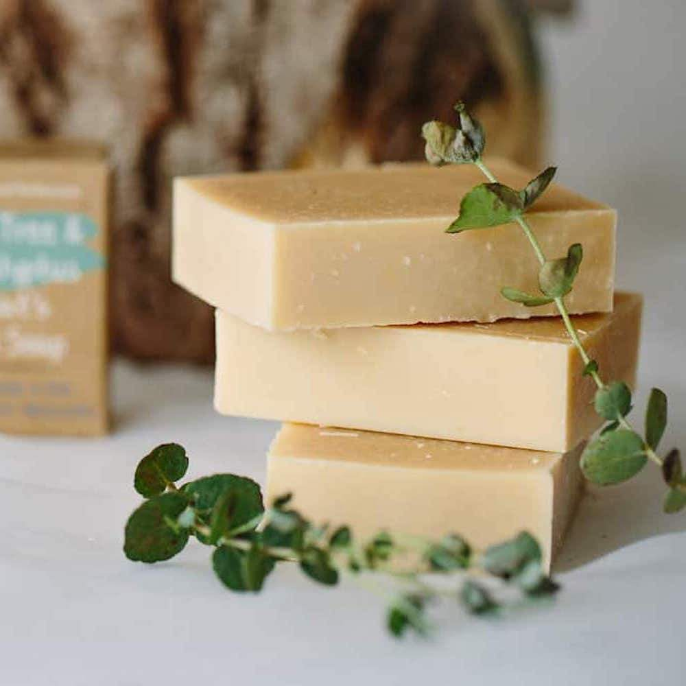 Cyrils Soap Shed Cyrils Soap Shed Goats Milk Soap - Tea Tree and Eucalyptus &Keep