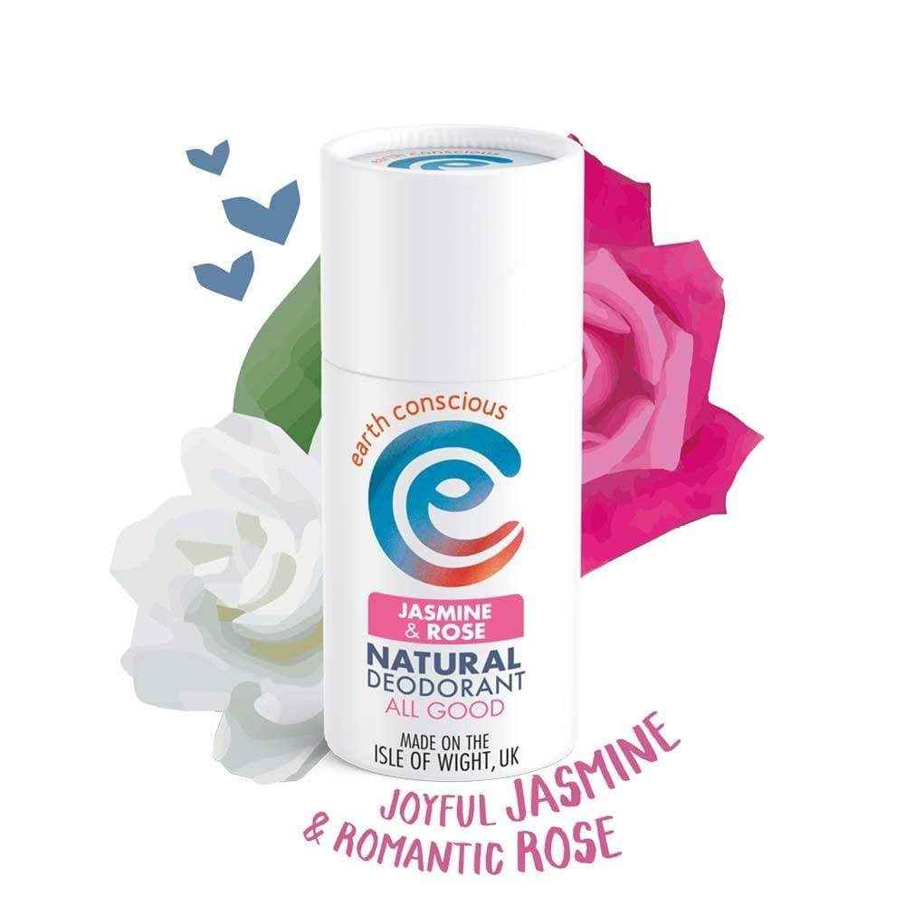 Earth Conscious Natural Deodorant Stick - Jasmine & Rose &Keep